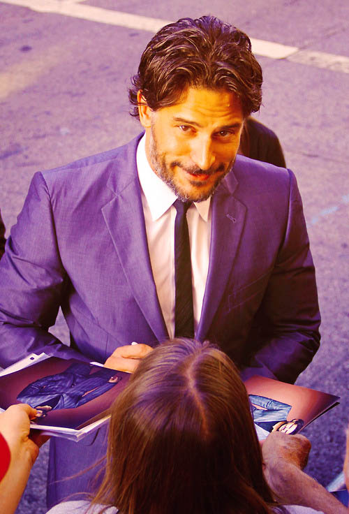 Joe Manganielo seen greeting fans and signing autographs at the Hollywood premiere of 'What To Expect When Your Expecting'