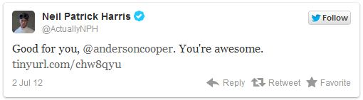 Anderson Cooper sai do armário - Gay