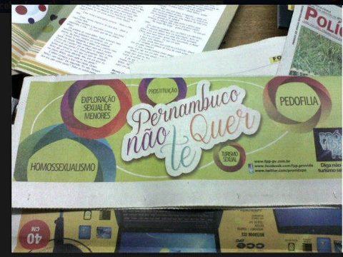 Folha de Pernambuco e a Propaganda Homofóbica
